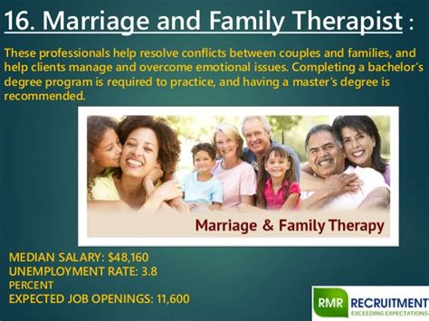 Marriage And Family Therapist Salary by Top 20 Healthcare In 2015