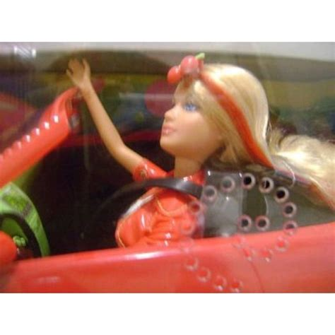 barbie red cars barbie candy glam red car doll collectable bnib gift