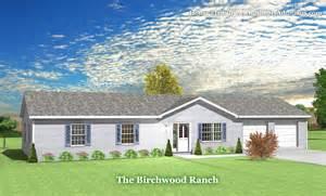 the ranch homes designs birchwood modular ranch house plans