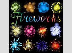 Fireworks transparent background free vector download