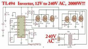 Tl494 Inverter Circuit With Irf3205 Power Mosfet  2000w   12v To 240v Ac