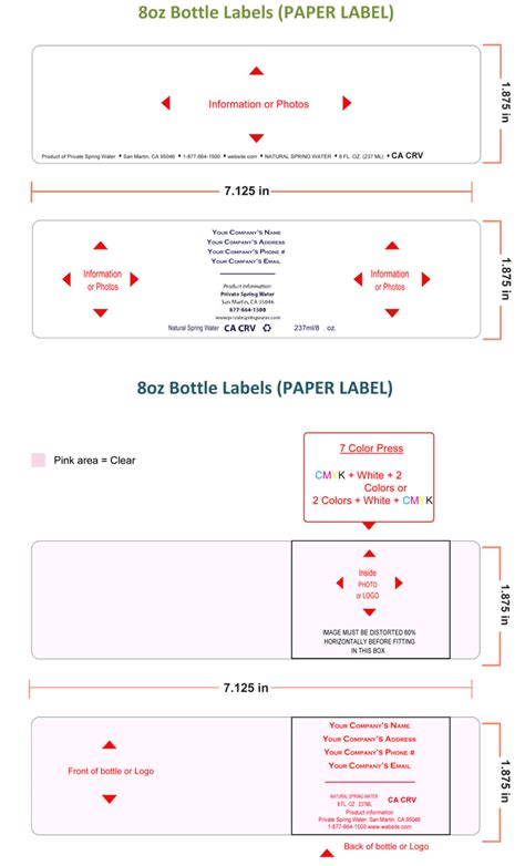 personalized water bottle label template water bottle label template make personalized bottle labels