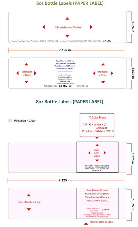 Bottle Label Template by Water Bottle Label Template Make Personalized Bottle Labels