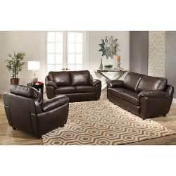 mavin top grain leather sofa loveseat and armchair set sam s club