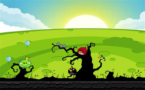 Angry Birds Background Angry Birds Wallpaper And Background Image 1280x800 Id