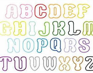 6 best images of 2 inch printable bubble letters With 2 inch block letters