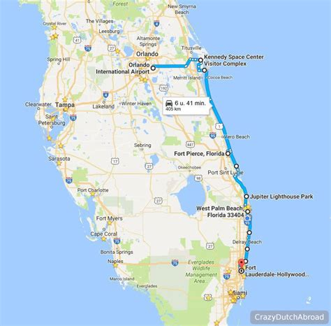 two days road trip from orlando to fort lauderdale