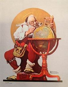 Santa Claus by Norman Rockwell | Christmas | Pinterest