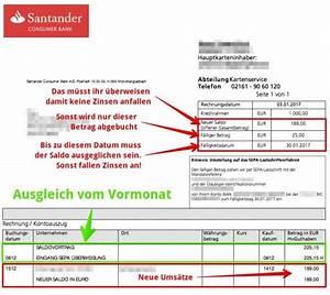 Mastercard Online Abrechnung : santander 1plus visa die eierlegende wollmilchsau ~ Themetempest.com Abrechnung