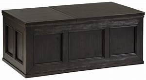 signature design by ashley gavelston rustic distressed With ashley furniture chest coffee table
