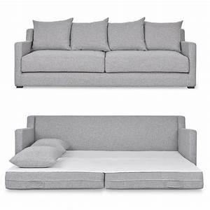 Gray queen size sofa bed for Queen size sofa bed dimensions