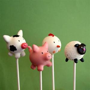 12 Farm Animal Cake Pops - Cow, Pig, Chicken, Sheep for ...