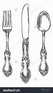 vintage cutlery clip art - Clipground