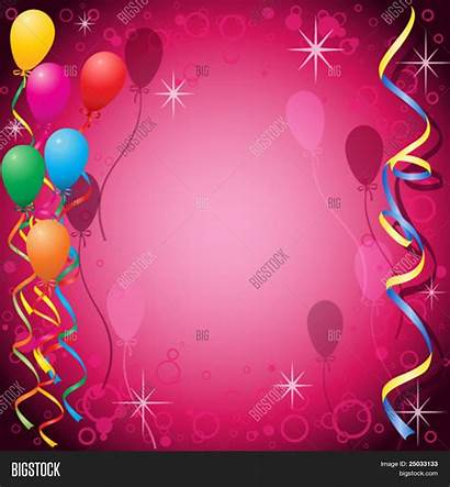 Party Background Balloons Streamers Backgrounds Vector Wallpapersafari