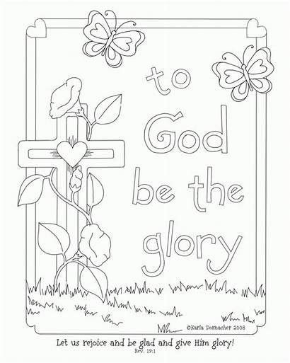 Easter Coloring Christian Pages Religious Sunday Adult