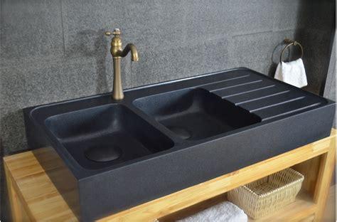 evier cuisine but 120x60 évier granit noir de cuisine en 2 cuves
