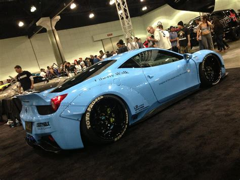 making  liberty walk sky blue ferrari  italia