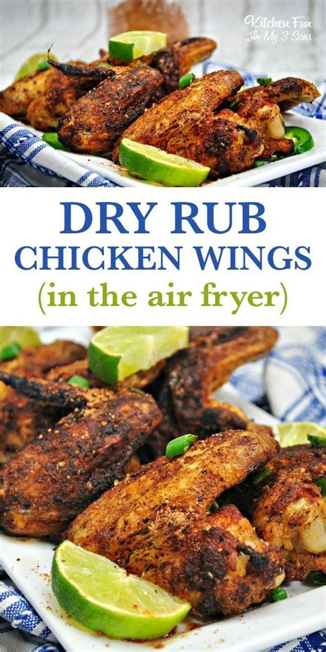 fryer chicken air dry rub wings recipes keto recipe carb low wing kitchenfunwithmy3sons fried bbq healthy seasoning nutrition fun whole