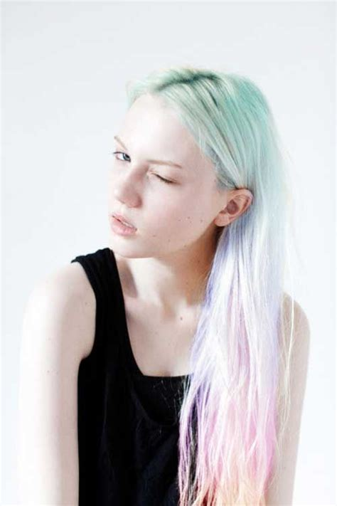 ways  wear rainbow hair glam radar