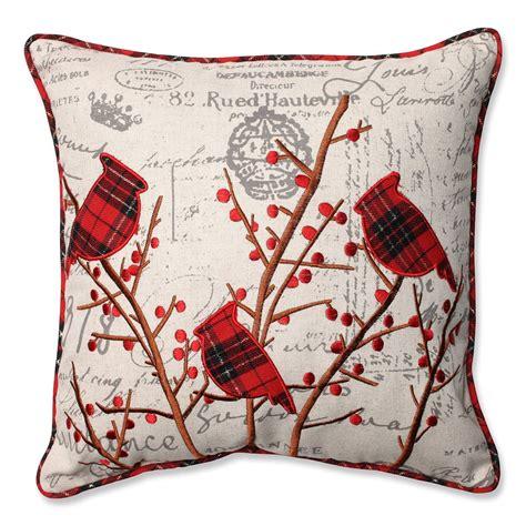 christmas cardinal throw pillows christmas wikii