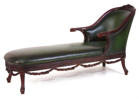 leather chaise longue uk green leather chaise longue occasional seating in stock
