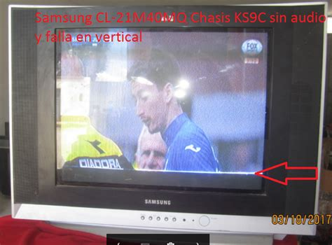 tv samsung cl 21m40mq chasis ks9c audio y falla vertical