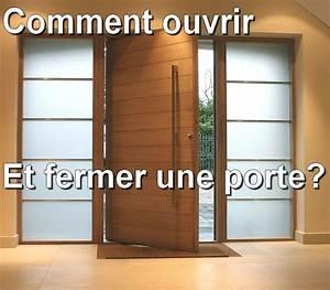 comment ouvrir et fermer une porte youtube With comment reboucher une porte