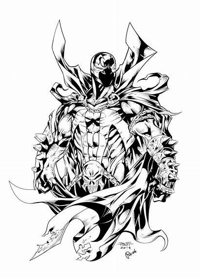 Spawn Drawing Line Sketch Deviantart Ink Comic