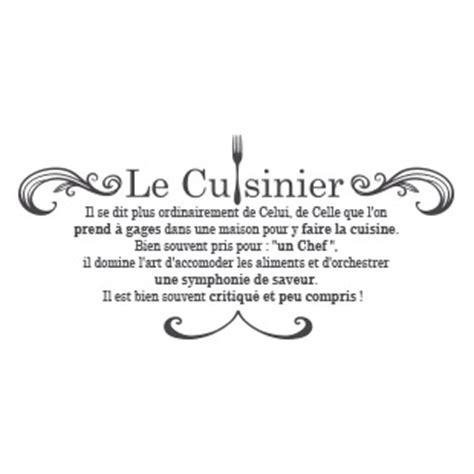la cuisine du chef stickers citation