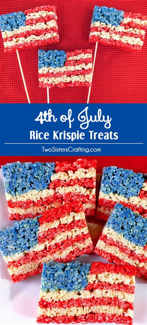 4 of july treats 4th of july rice krispie treats two sisters