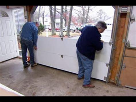 install  garage door   house youtube