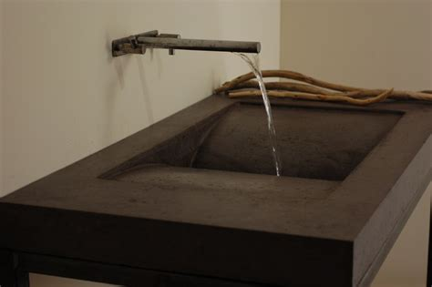 designer bathroom sink concrete library sink modern bathroom sinks miami by miano design co