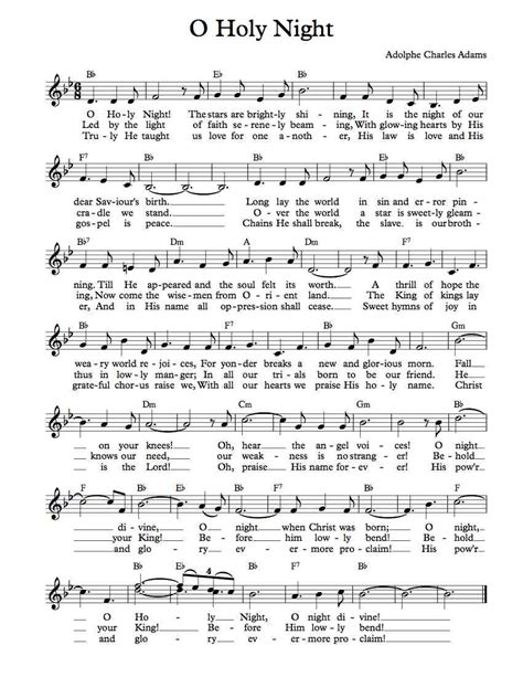 Instantly download o holy night and 51 additional christmas songs for c instrument for only $9.99. Free Lead Sheet - O Holy Night   Michael Kravchuk