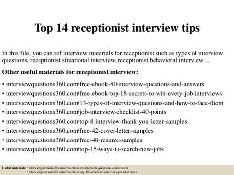 front desk receptionist interview questions top 14 receptionist interview tips