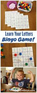 Learn the alphabet bingo game frugal fun for boys and girls for Learn your letters game