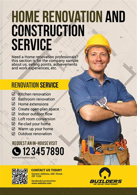 starter for car company construction and building flyer by artchery