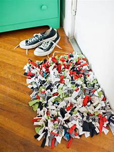 How to Make a Recycled T-Shirt Rug HGTV