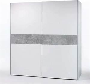 Kleiderschrank Grau Weiß : kleiderschrank schwebet renschrank schrank schlafzimmer 170cm wei beton optik ebay ~ Markanthonyermac.com Haus und Dekorationen