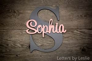 Large nursery name sign capital letter baby name plaque for Letter name signs