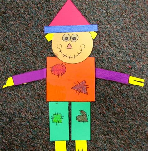scarecrow crafts for preschoolers geometry scarecrow lots of possibilities with this 844