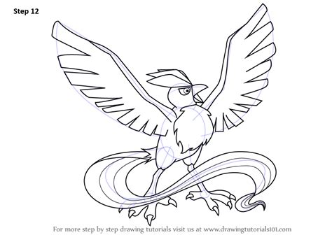 learn   draw articuno  pokemon pokemon step