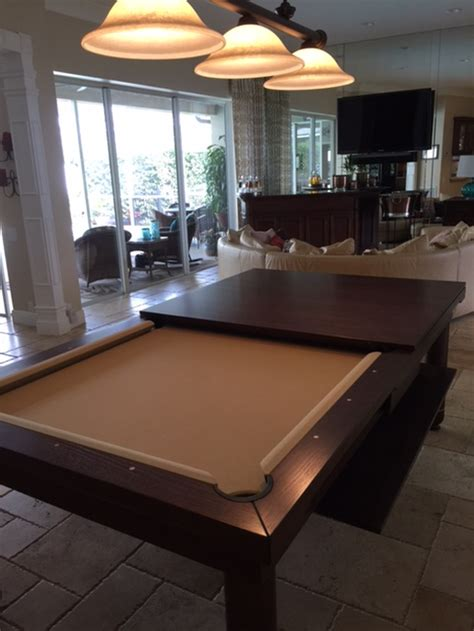 conversion pool tables dining pool tables  chic pool