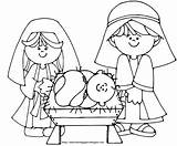 Coloring Nativity Jesus Pages Printable Sheets Happy Activity Children Xmas sketch template