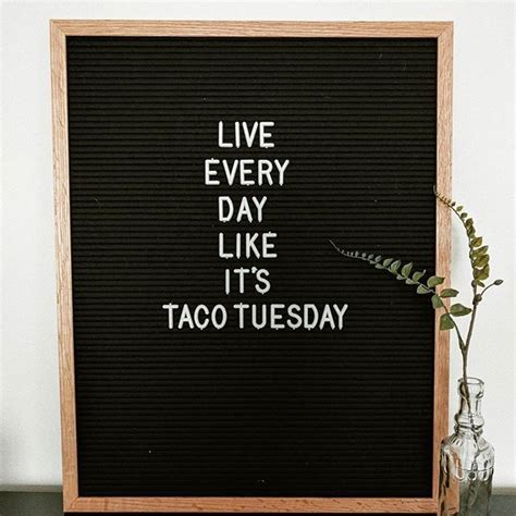 funny quotes taco tuesday letterboard tap  link