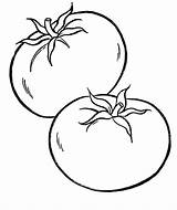 Tomato Vegetables Coloring Printable Vegetable Cartoon Sheets Disimpan Dari Crafts sketch template