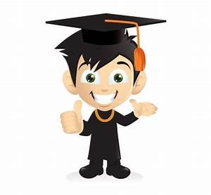 XOO Plate :: Cartoon Smiling Graduation Boy PNG - Thumbs ...