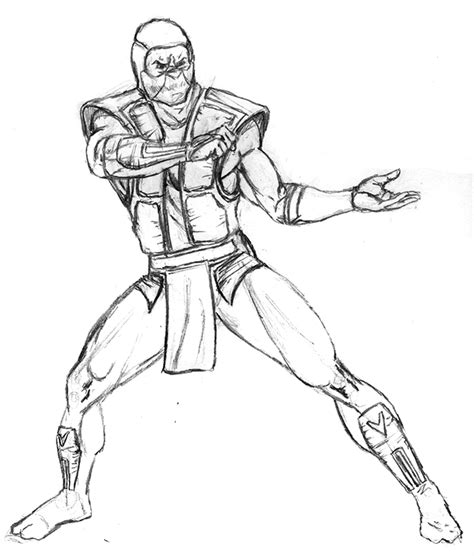 Mortal Kombat Ermac Free Coloring Pages