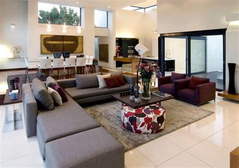 canapé déco idee deco salon gris prune deco maison moderne
