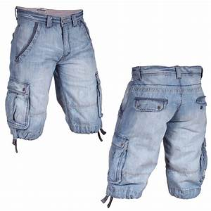 Denim Cargo Shorts Mens - Hardon Clothes