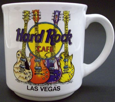 Serving amazing american meals since 1994. HARD ROCK CAFE LAS VEGAS Coffee Cup Mug Electric Guitars ...